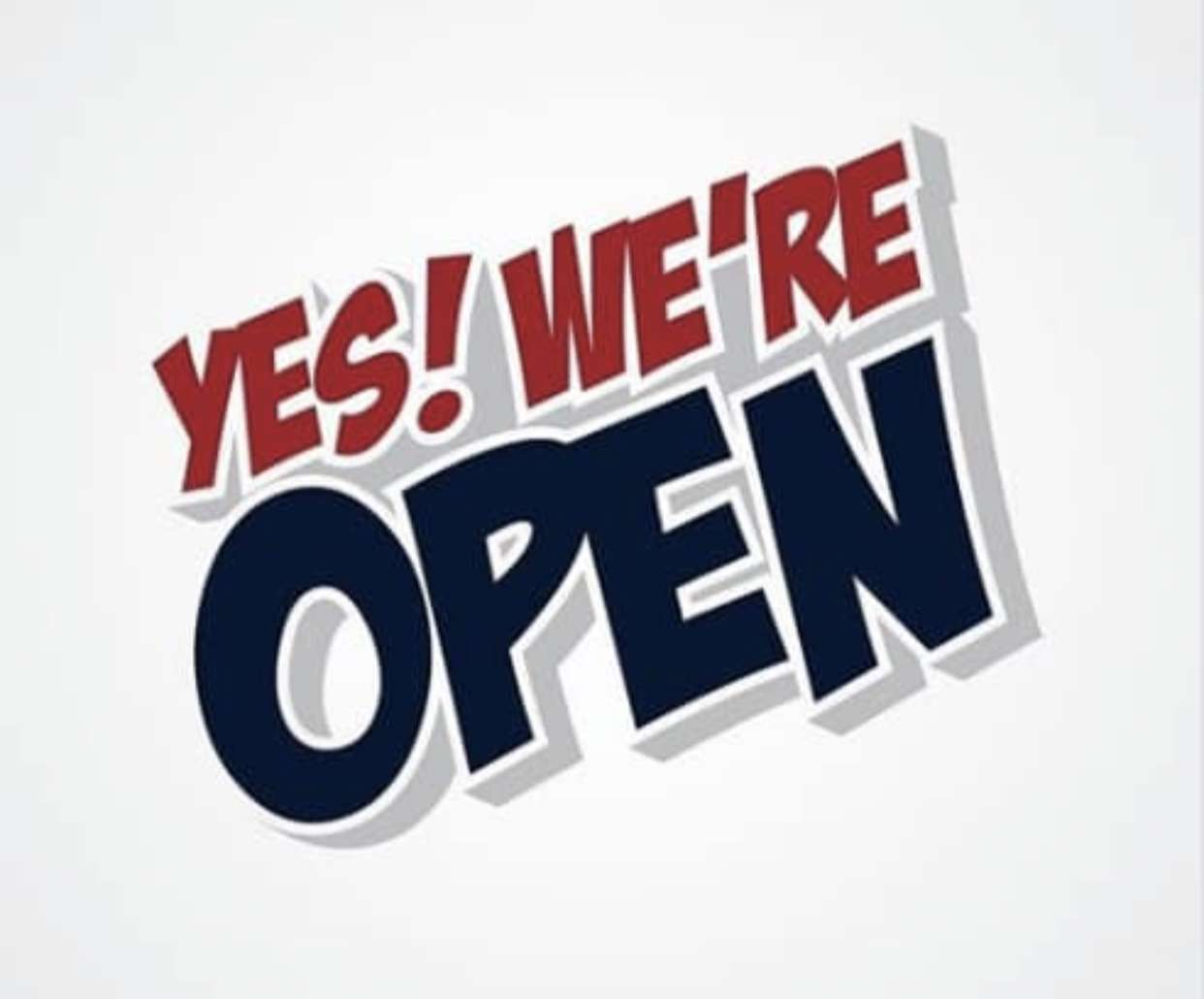 Yes we're open !!