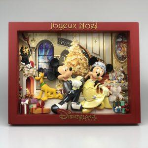 3-D Mickey en Minnie Mouse Schilderij Kerst Tafereel