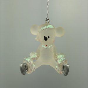 Mickey Mouse Kerst Ornament Zittend met schaatsen aan