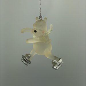 Winnie de Pooh Kerst Ornament met schaatsen
