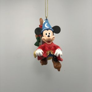 Disney Kerst Ornament Kerstbal Mickey Mouse Fantasia met Bezemsteel