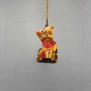 Kerst Ornament Kerstbal Winnie de Pooh op de slee