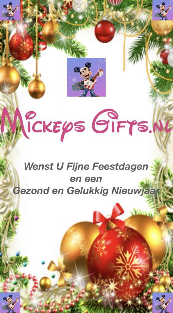Mickeysgifts.nl wenst U Fijne Feestdagen en een Gezond en Gelukkig Nieuwjaar