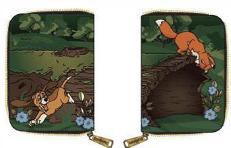 Loungefly Disney Fox and Hound Portemonnee – Portemonnee met afbeelding van Frank en Frey.
