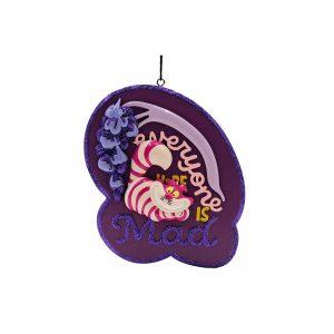 Alice in Wonderland Cheshire Cat / Kolderkat 2D Ornament / Kerstbal Kurt S Adler
