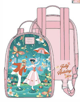 LOUNGEFLY DISNEY MARY POPPINS JOLLY HOLIDAY MINI BACKPACK RUGZAK