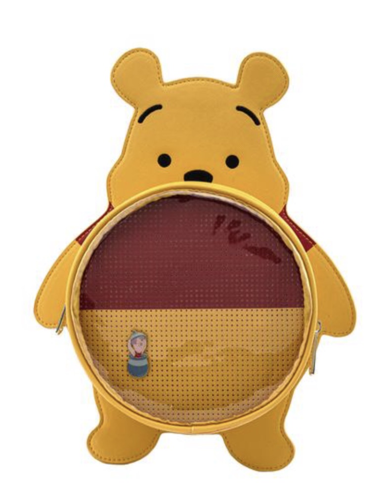 LOUNGEFLY DISNEY WINNIE THE POOH PIN TRADER BACKPACK RUGZAK