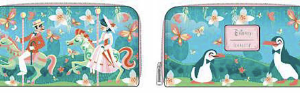 LOUNGEFLY DISNEY MARY POPPINS JOLLY HOLIDAY ZIP AROUND WALLET PORTEMONNEE