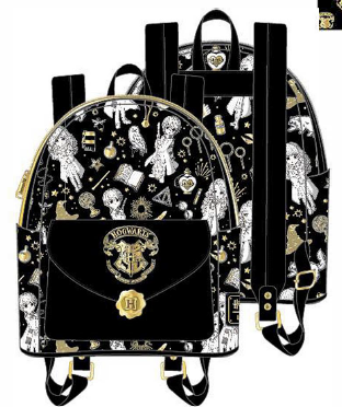 LOUNGEFLY HARRY POTTER MAGICAL ELEMENTS AOP MINI BACKPACK RUGZAK