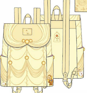 LOUNGEFLY DISNEY BEAUTY AND THE BEAST BELLE COSPLAY MINI BACKPACK RUGZAK