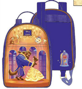 LOUNGEFLY DISNEY BEAUTY AND THE BEAST BALLROOM SCENE MINI BACKPACK RUGZAK