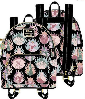 LOUNGEFLY DISNEY VILLAINS PASTEL FLAMES AOP MINI BACKPACK RUGZAK
