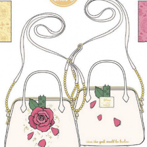 LOUNGEFLY DISNEY BEAUTY AND THE BEAST ROSE CROSSBODY BAG HAND- SCHOUDERTAS