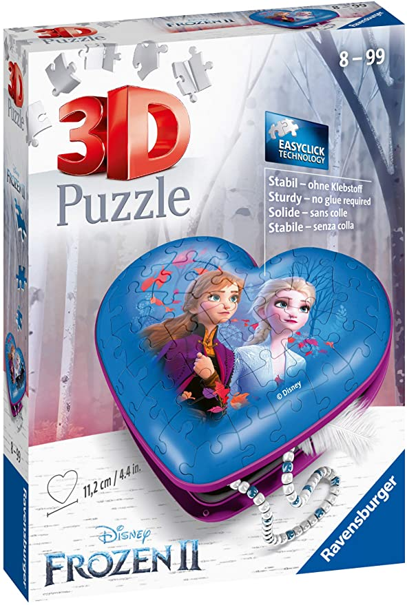 Ravensburger Hartendoosje Disney Frozen II – 3D puzzel – 54 stukjes
