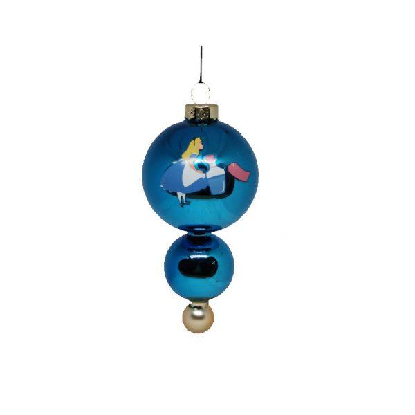 Alice in Wonderland Glas Ornament Kerstbal Kurt S Adler