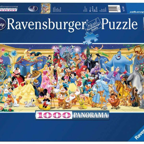 Ravensburger puzzel Disney groepsfoto - panorama - Legpuzzel - 1000 stukjes