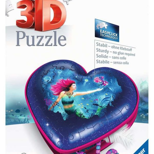 Ravensburger Hartendoosje Enchanting Mermaids - 3D puzzel - 54 stukjes
