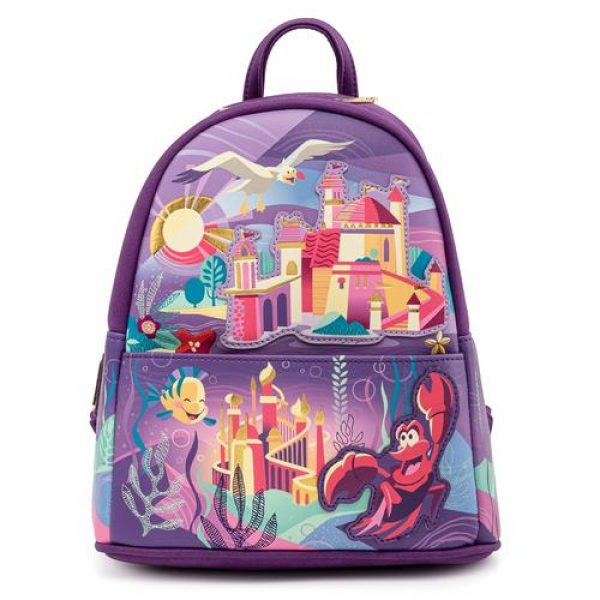 LOUNGEFLY DISNEY ARIEL CASTLE COLLECTION MINI BACKPACK / RUGZAK